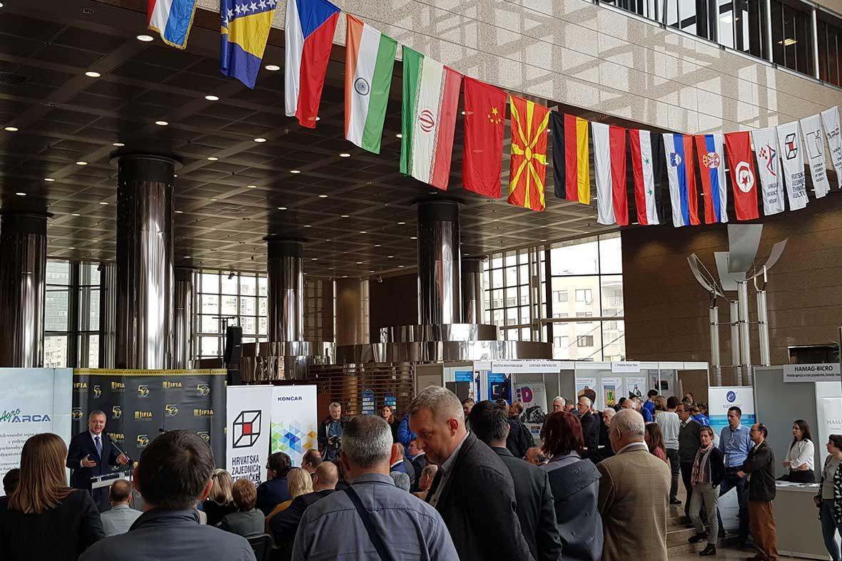 مراسم افتتاحیه نمایشگاه بین المللی اختراعات کشور کرواسی در محل کتابخانه ملی شهر زاگرب