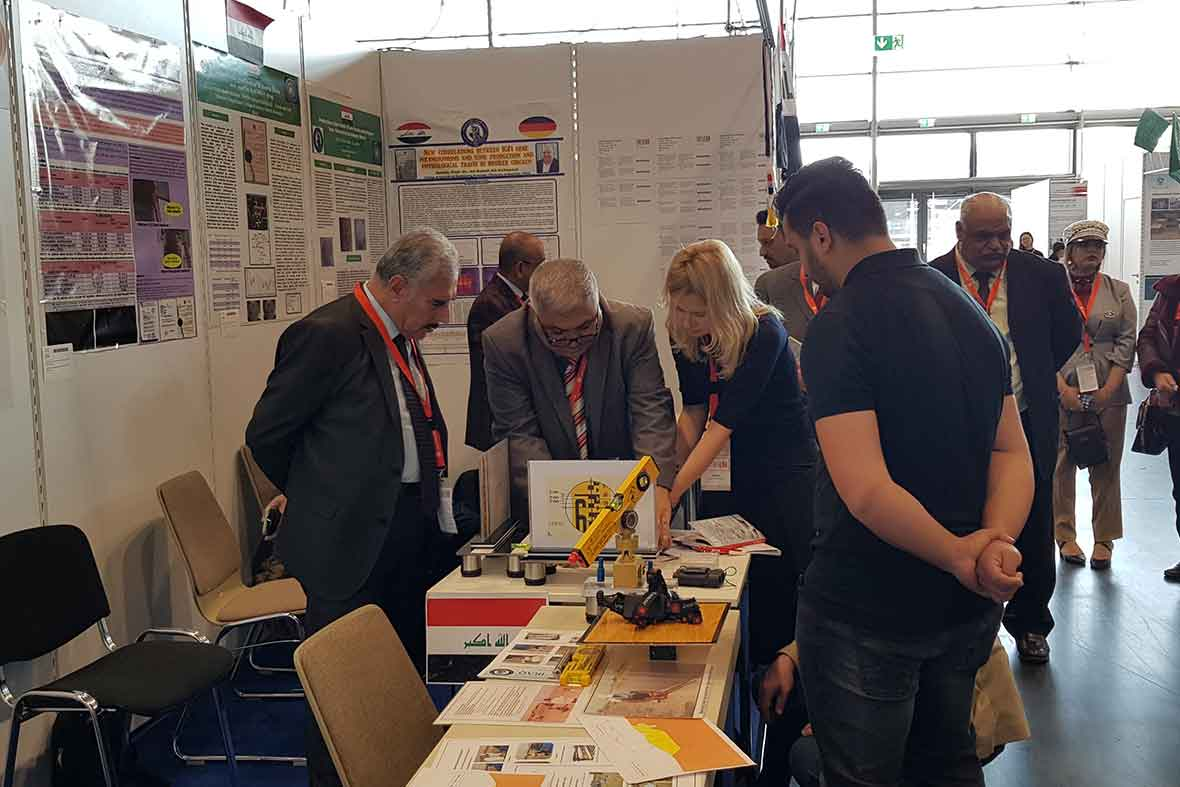 غرفه مخترعان کشور عراق در نمایشگاه آلمان