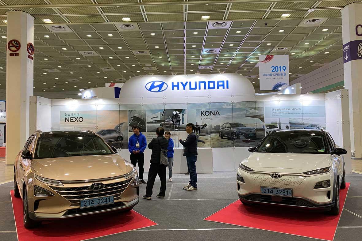 غرفه شرکت هیوندای با ارائه نسل جدید خودروهای برقی