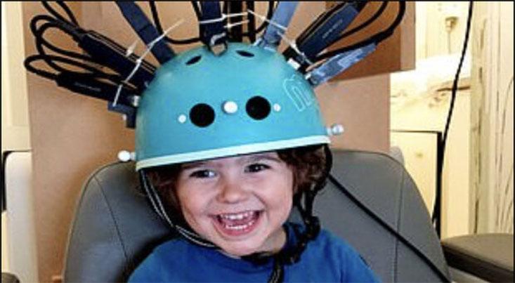 کلاه اسکنر مغزی مخصوص کودکان