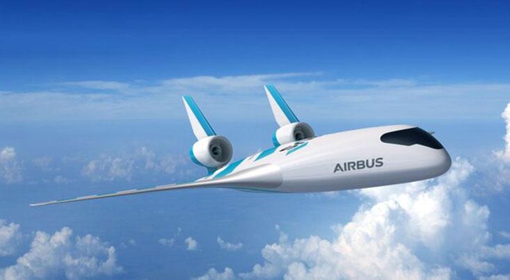 هواپیمایی با بالهای ادغام شده در بدنه و پنجرههای مجازی