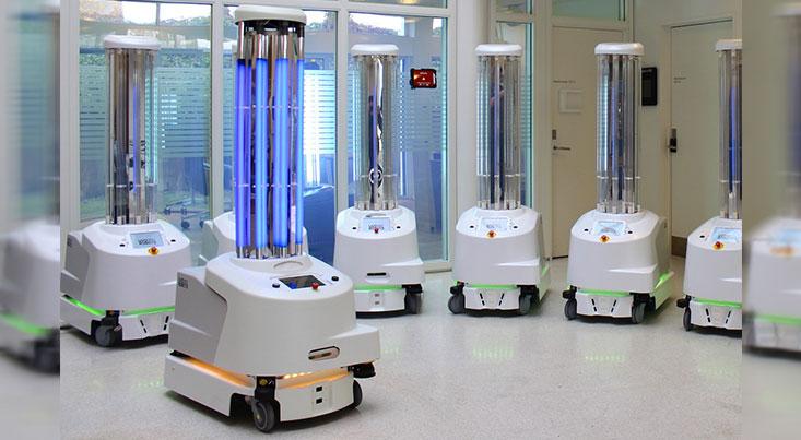 ربات ضدعفونی کننده از شیوع ویروس کرونا جلوگیری می کند