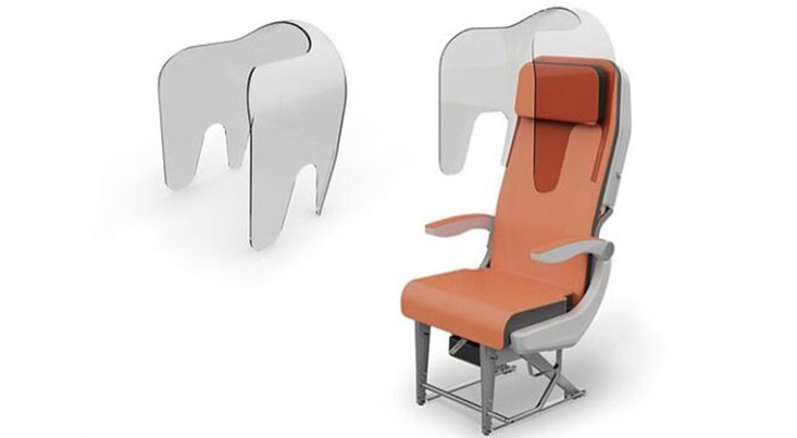 صندلی ضد کرونا برای هواپیما طراحی شد
