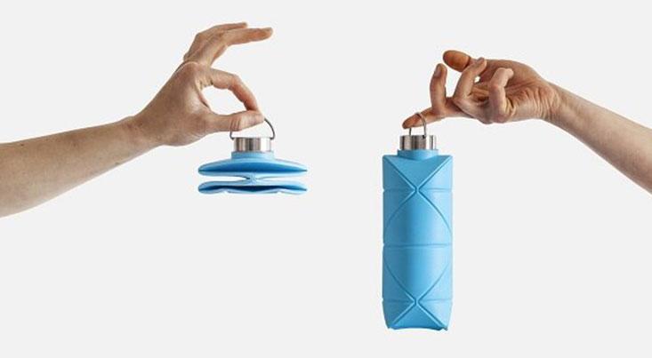 بطری آب تجدیدپذیر که در جیب جا میشود