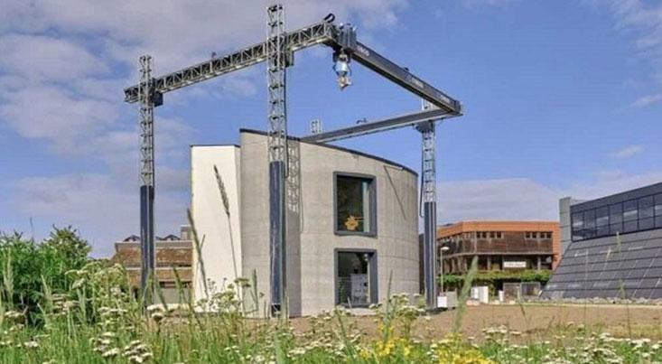 بزرگترین چاپگر سه بعدی اروپا خانه دوطبقه ساخت