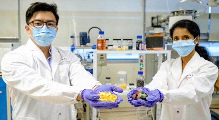 استخراج فلزات باارزش باتری های مصرف شده با پوست پرتقال