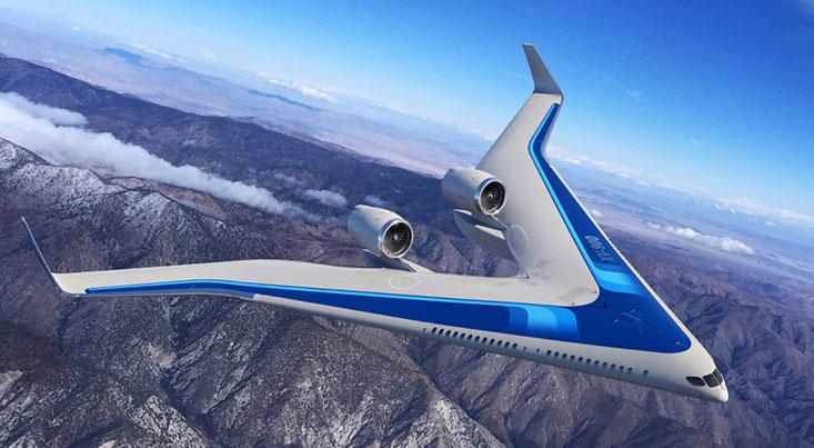هواپیمای «وی» شکل در آسمان پرواز کرد