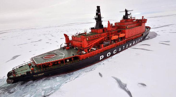بزرگترین کشتی یخ شکن هسته ای دنیا