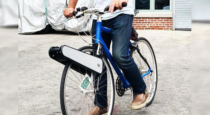 تبدیل دوچرخه معمولی به دوچرخه برقی تنها با یک دستگاه ساده