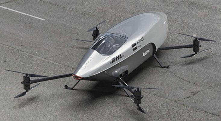 نخستین خودروی پرنده مسابقهای جهان رونمایی شد